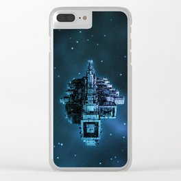 Leviathan BLUE / Keep on trucking Clear iPhone Case