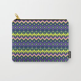 Pixel modern geometric seamless pattern ornament Carry-All Pouch
