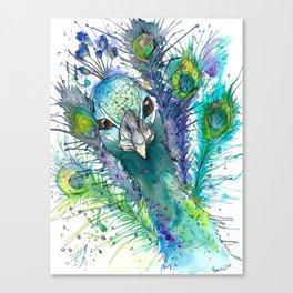 Mr. Peacock In The Ballroom Canvas Print
