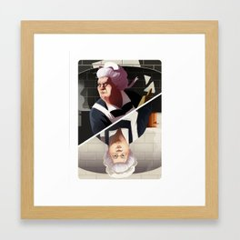 Mrs White Framed Art Print