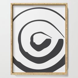 ABSTRACT ART Perspective | Circle Serving Tray