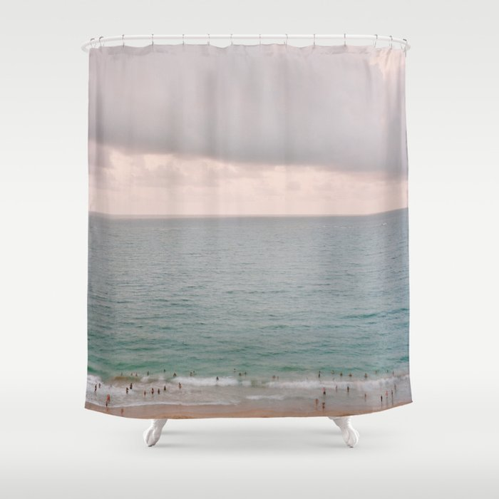 San Juan Beach Scene 1 Shower Curtain