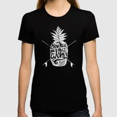 You had me at Aloha! SMALL Black Womens Fitted Tee