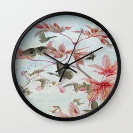 Maple And Butterflies Wall Clock