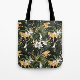 Animals in the glamorous nocturnal jungle Tote Bag