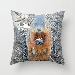 Ground Hog Throw Pillow