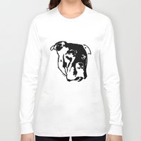 pitbull Long Sleeve T-shirts featuring COACH - BLACK by Kirk Scott