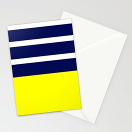Summer Patio Perfect, Yellow, White & Navy Stationery Cards