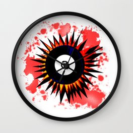 45 RPM Record Explosion Wall Clock