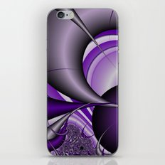 Purple thorn fractal iPhone & iPod Skin