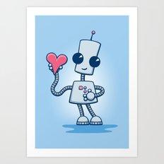 Ned's Heart Art Print