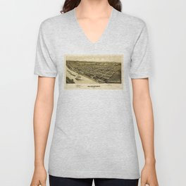 Aerial View of Glassport, Pennsylvania (1902) Unisex V-Neck