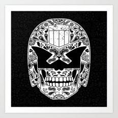 Day of the Dredd - Black Art Print
