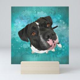 SMiTHY (shelter pup) Mini Art Print