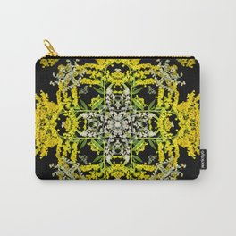 Crowning Goldenrod and Silver king Kaleidoscope Scanography Carry-All Pouch