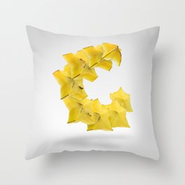 Flying StarFruit Throw Pillow