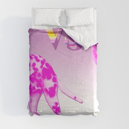 VS - Pink Dalmatian Flamingo go Floral    Comforters