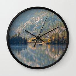 Morning at Silver Lake Wall Clock