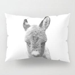 Black and White Baby Donkey Pillow Sham