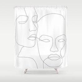 Cheek to Cheek Shower Curtain