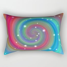 Colored Swirl in the Sky Rectangular Pillow