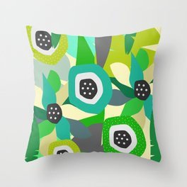 Bright tropical vibe Throw Pillow