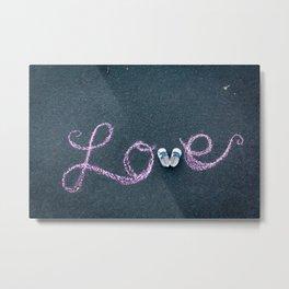 """""""love"""" Metal Print"""