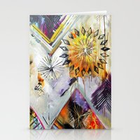 "flora bowley Stationery Cards featuring ""Burn Bright"" Original Painting by Flora Bowley by Flora Bowley"
