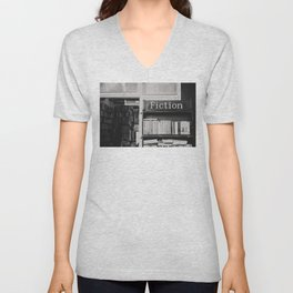 getting lost in a book store Unisex V-Neck