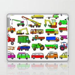 Doodle Trucks Vans and Vehicles Laptop & iPad Skin
