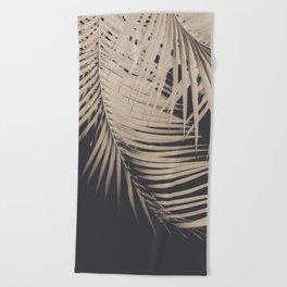 Palm Leaves Sepia Vibes #1 #tropical #decor #art #society6 Beach Towel