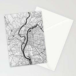 Lyon Map Gray Stationery Cards