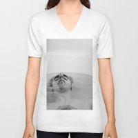 bath V-neck T-shirts featuring Bath by Ryan Escalante