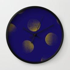 Golden Blues Wall Clock