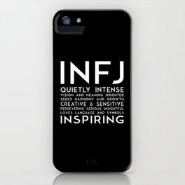 INFJ (black version) iPhone Case