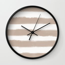 Long Strokes Horizontal Nude on Off White Wall Clock