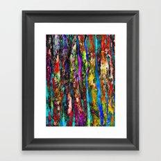 Colored Tree Bark 2 Framed Art Print