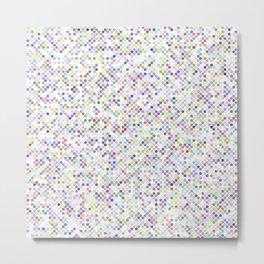 Cyberflowers pixels on white background Metal Print