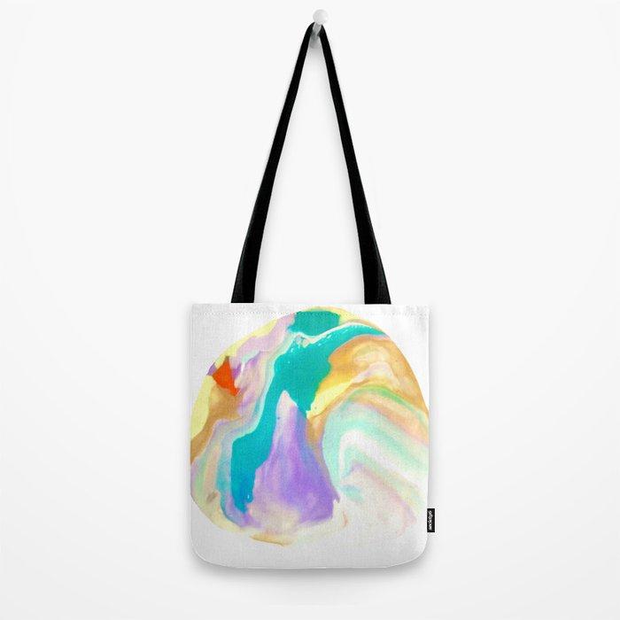 Deep Sea Colorful Surprises Marbling Tote Bag