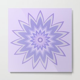Lavender Star Flower Metal Print