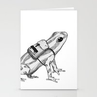 backpack Stationery Cards featuring Pack your backpack by Léa Poisson