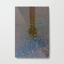 Reflection of Steel Tower on the Water Metal Print