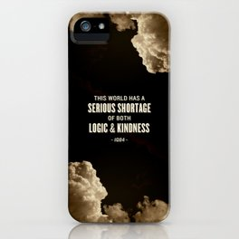 Logic and Kindness iPhone Case