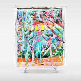 Spring Party Shower Curtain