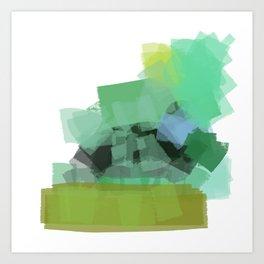 Ode to green 4 Art Print