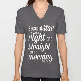 Peter Pan Quote Unisex V-Neck