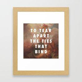 Do Me a Favour, Angel Framed Art Print