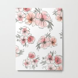 Watercolor Floral Metal Print