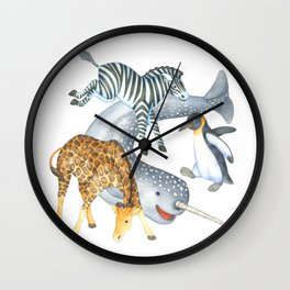 Hi Buddies Wall Clock