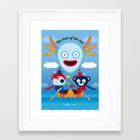 hook Framed Art Prints featuring Hook by mikko umi